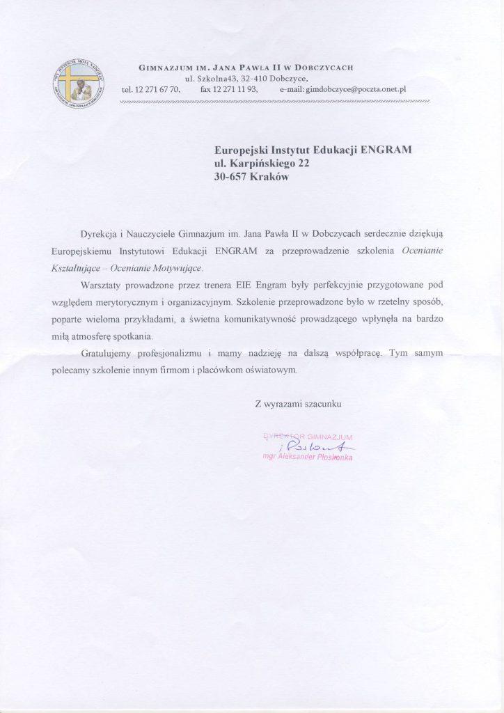 Gimnazjum w Dobczycach