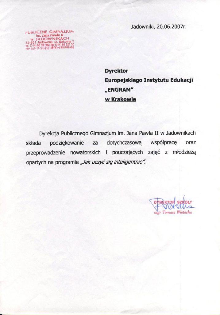 Gimnazjum w Jadownikach