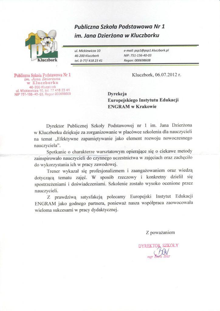 Publiczna Szkoła Podstawowa nr 1 w Kluczborku