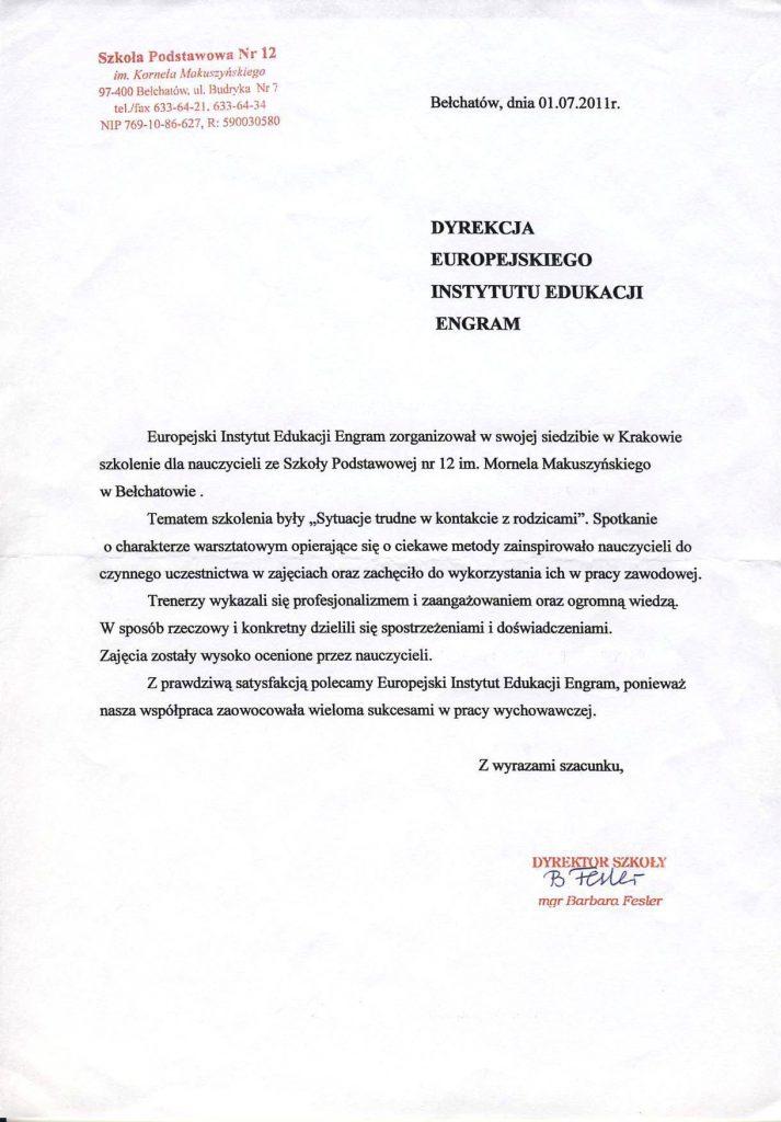 Szkoła Podstawowan nr 12 w Bełchatowie