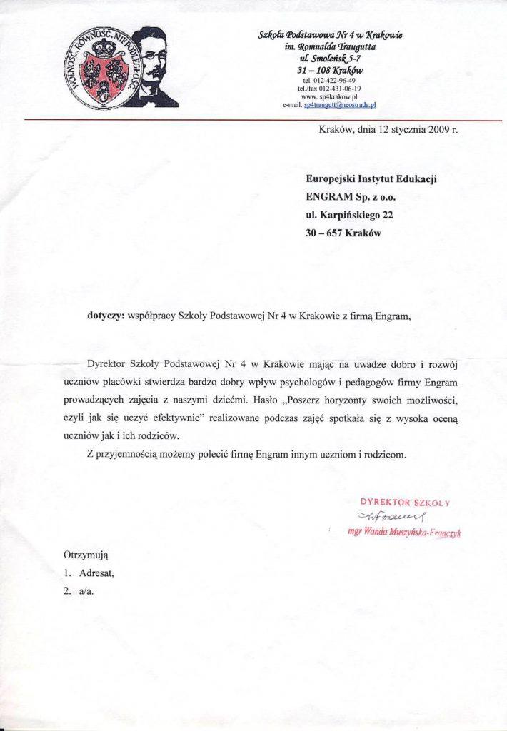 Szkoła Podstawowan nr 4 w Krakowie