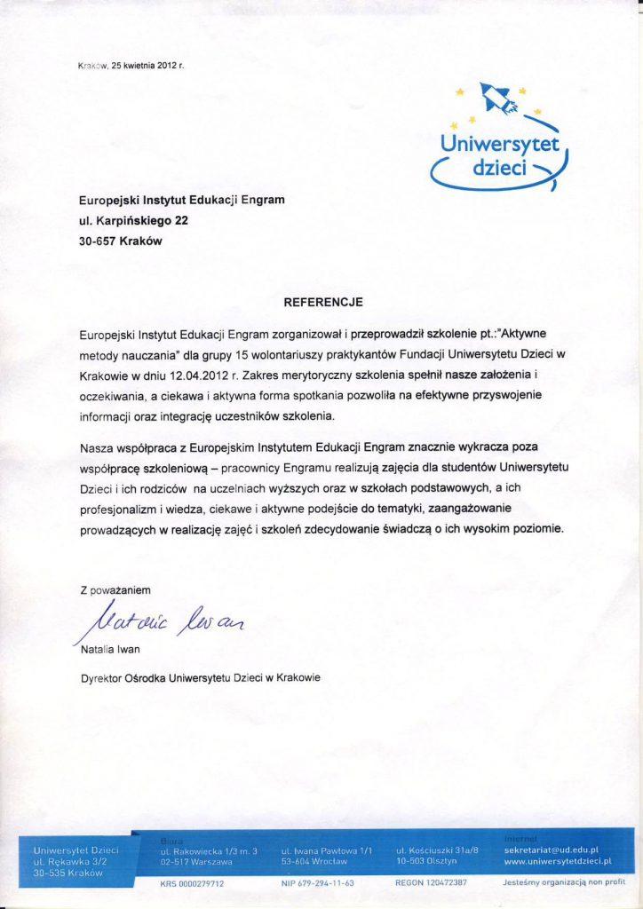 Uniwersytet Dzieci w Krakowie