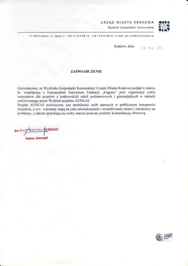 Współpraca z Urzędem Miasta Krakowa (2)
