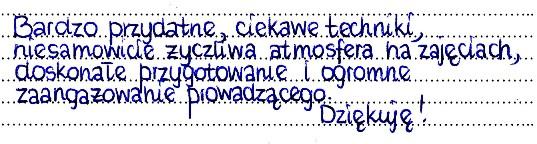 Opinia z grupy Warszawa 11