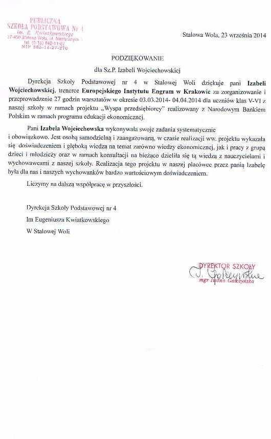 Publiczna Szkoła Podstawowa nr 4 w Stalowej Woli