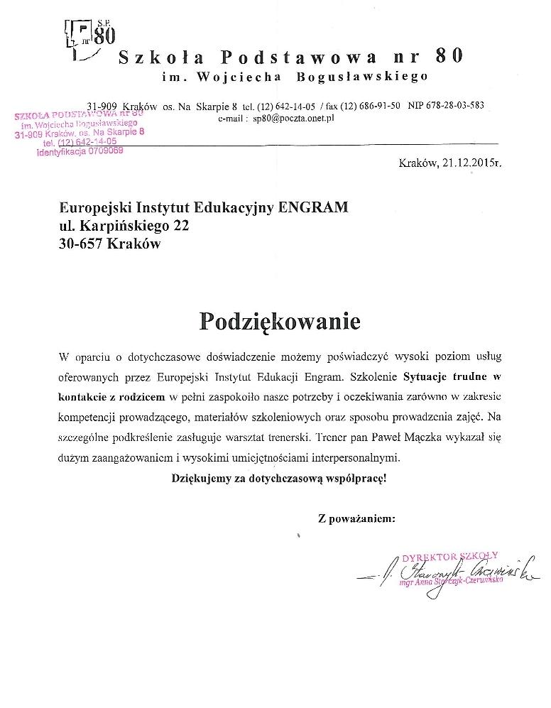 Szkoła Podstawowa nr 80 w Krakowie (2)