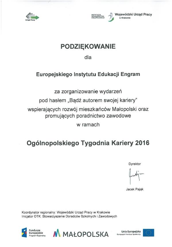 Wojewódzki Urząd Pracy – Tydzień Kariery 2016