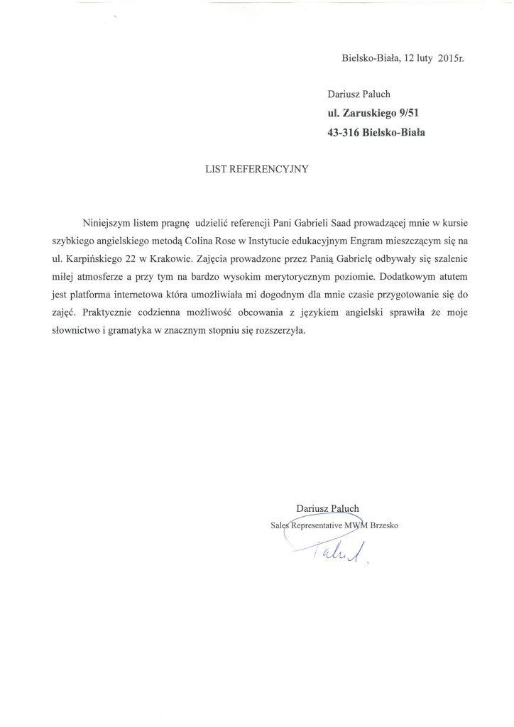 Dariusz Paluch – Sales Representative MWM Brzesko