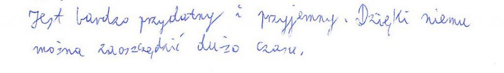 Opinia dziecka z grupy Płock (2)